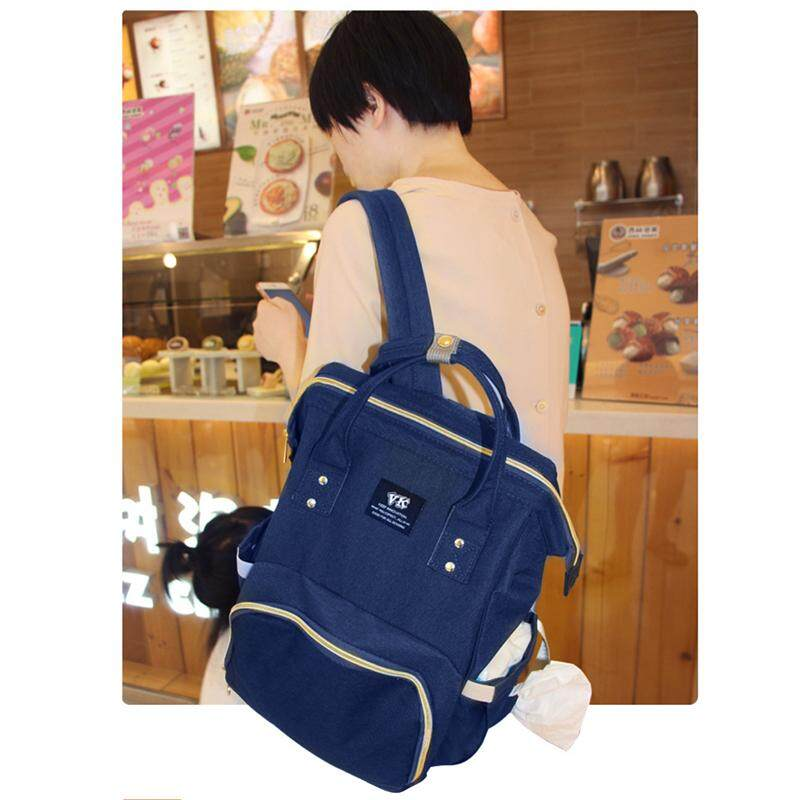 Blue fashion Mummy bag Multi-function Large capacity Waterproof Travel  Backpack Portable diaper bags Fashion ab27f59b17f47