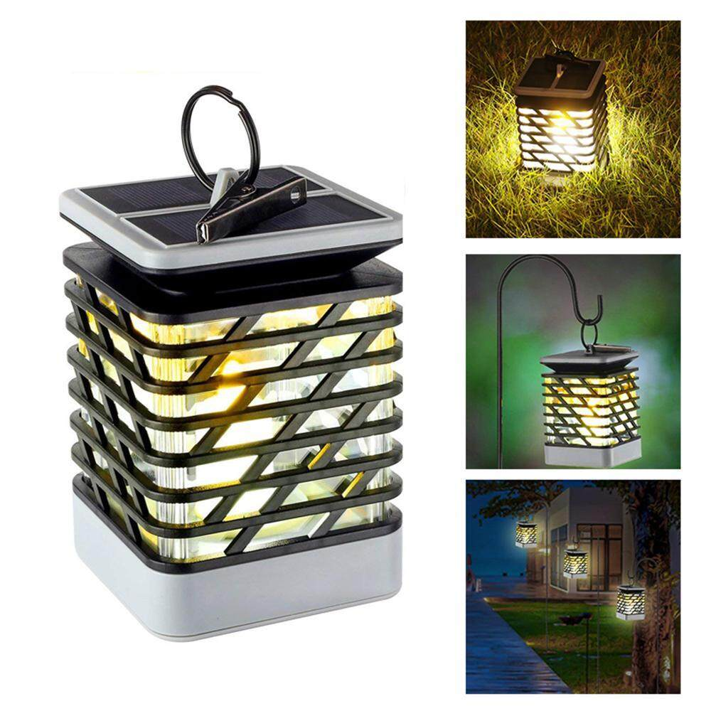 Auoker Solar Lights Solar Lanterns,Dancing Flame Outdoor Hanging Lanterns Lights Decoration Lighting,Solar Powered Waterproof Umbrella Lanterns Night Light Auto Sensor For Garden Patio Yard,9*9*13.8cm Singapore