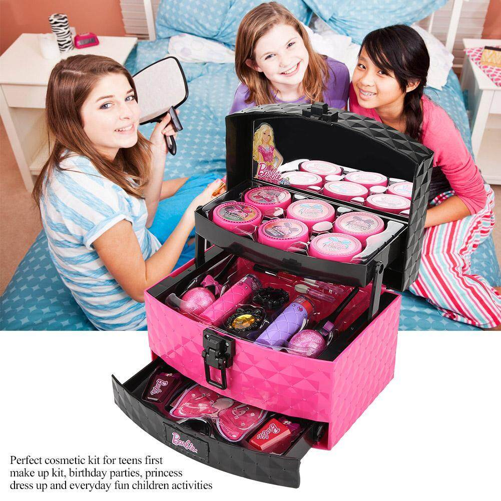 Children Kids Makeup Playing Accessories Toys Girls Make Up Case Beauty Cosmetic Set By Highfly.