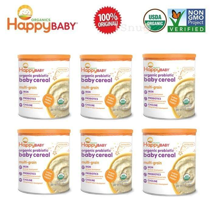 Happy Baby Probiotic Baby Cereal 198g - Multigrain 6 Units (Expiry: Jul 2019)