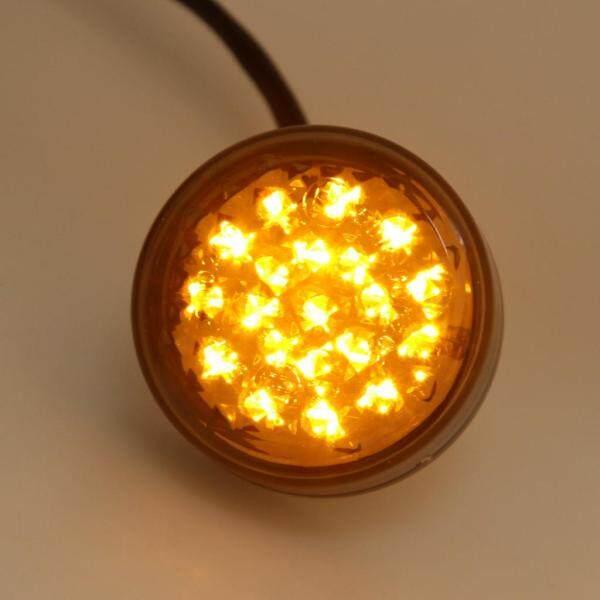 Dovewill 2 Chiếc Đèn LED 20 Màu Hổ Phách Xe Máy, Đèn Tín Hiệu Rẽ Tròn Cho Kawasaki