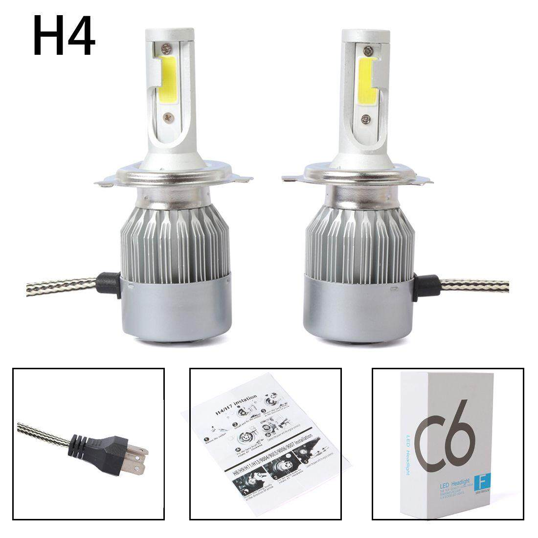 Motorcycle Head Lights For Sale Light Assemblies Online 9003 H4 Headlight Wiring Diagram New 2pcs C6 Led Car Kit Cob 36w 7600lm White Bulbs