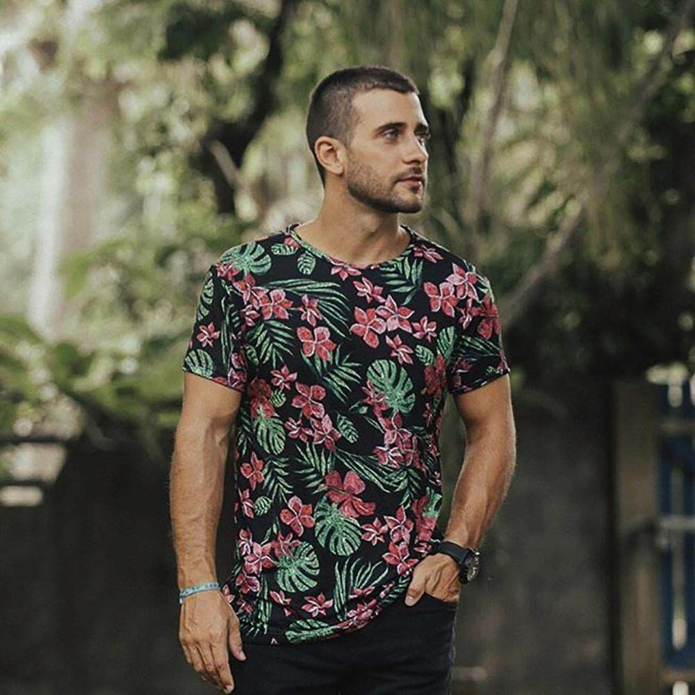 Popular T Shirts For Men The Best Prices In Malaysia Tendencies Tshirt Flash Rainbow Putih S Dadme Mens Casual Floral Printing Tops Clothes Shirt Family Blouse Bluelansie