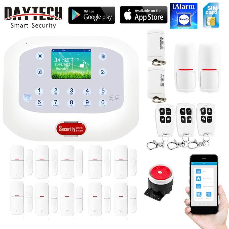 DAYTECH GSM Alarm System Wireless Home Security With Motion Detector Door Sensor LCD Display