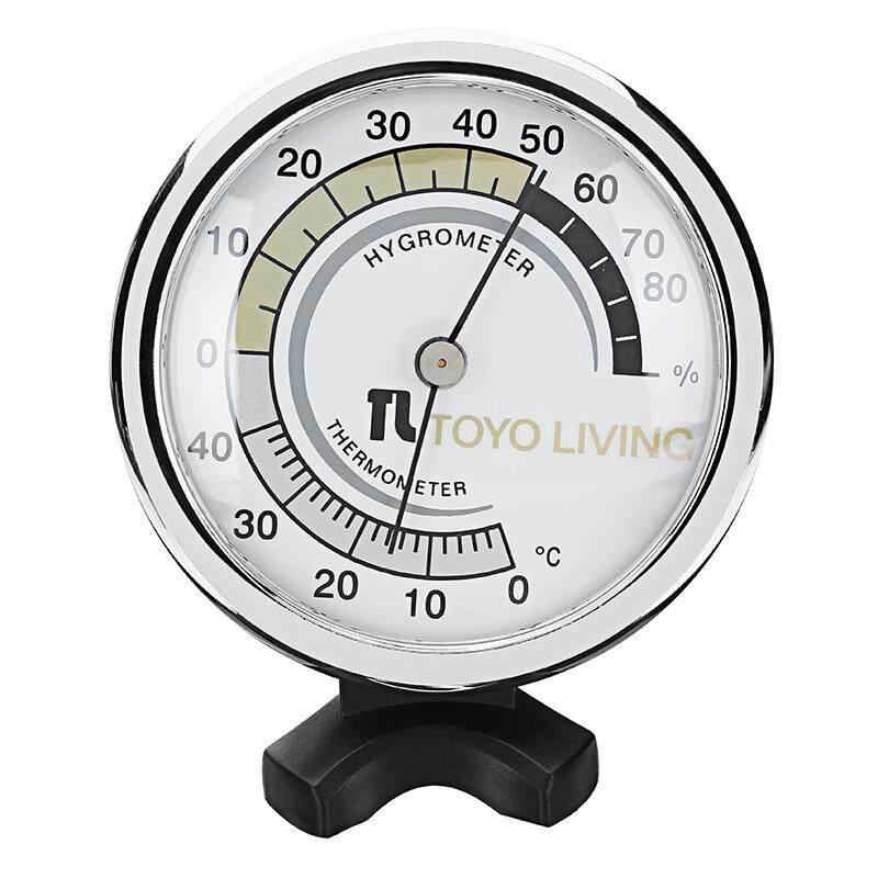 TH123 Themometer Nhiệt Ẩm Kế Nhiệt Độ Đồng Hồ Đo Độ Ẩm 0-50 ℃ 0-100% Lưng Thiết Kế Lỗ-quốc tế