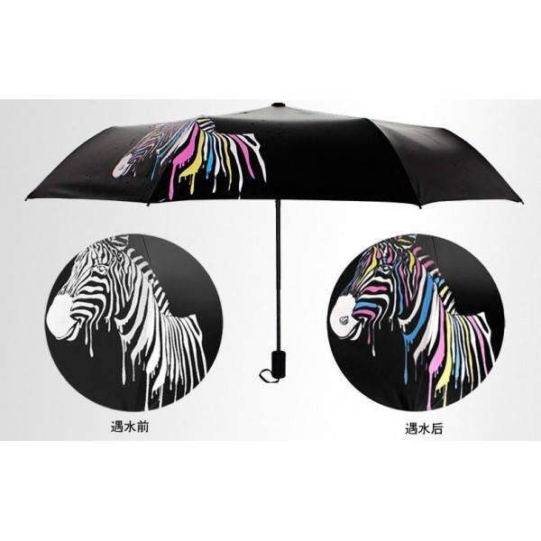 UV Protection Zebra Hidden Color Magic Umbrella