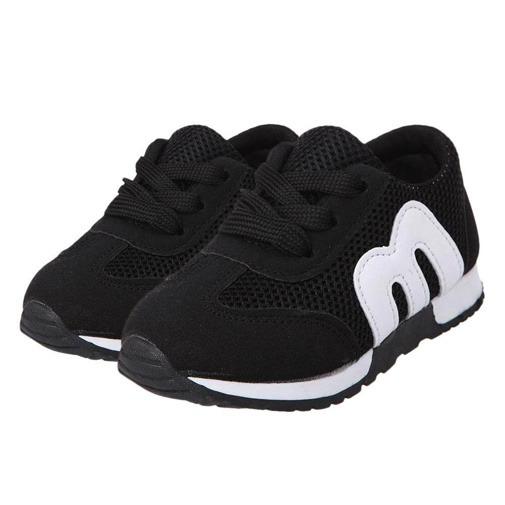 Childrens Mesh M Letters Boys Sports Casual Soft Girls Running Shoes - Intl By Yidea Hongkong.