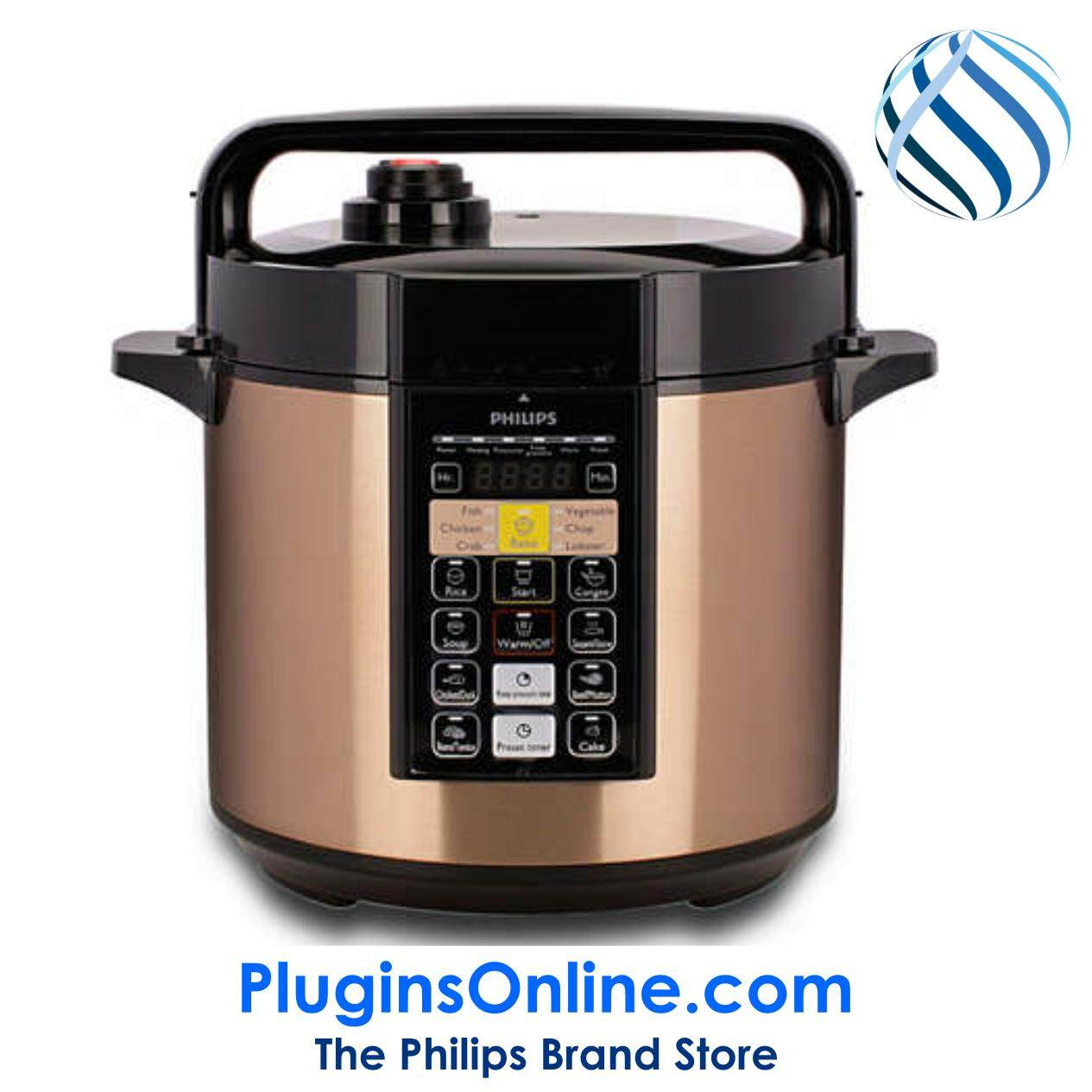 HD2139/60 PressTouch VIVA Collection Computerized Pressure Cooker (HD2139)