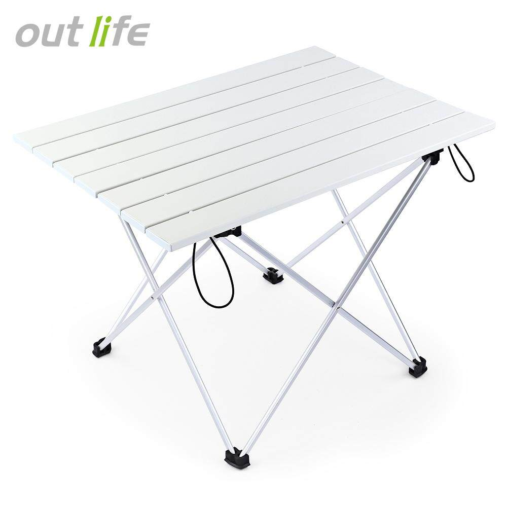 Outlife Portable Outdoor Bbq Camping Picnic Aluminum Alloy Folding Table By Tommygo.