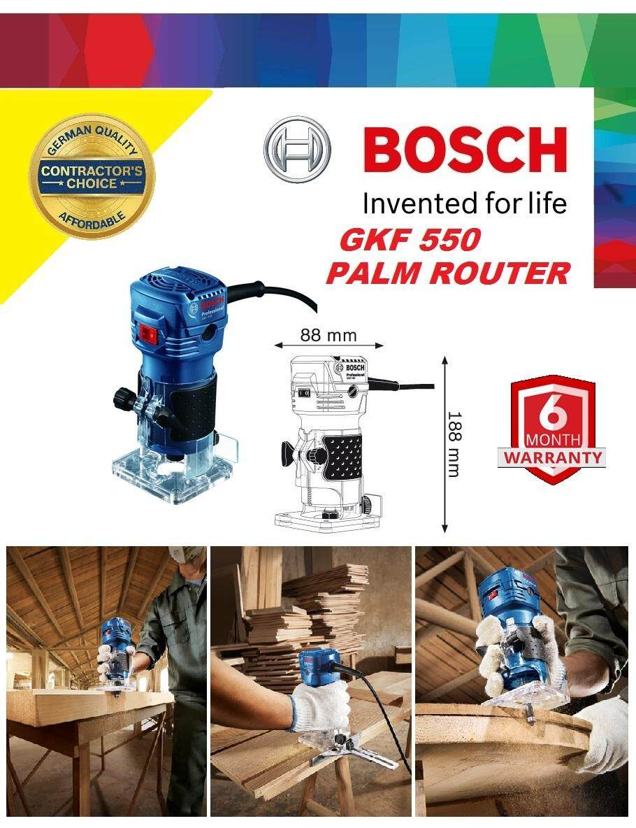 Bosch GKF 550W 6mm Palm Trimmer Router, Palm Router