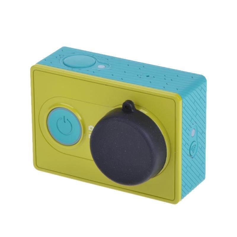 Lensa Berbahan Silikon Cap untuk Xiaomi Yi/GoPro Hero4/3 +/3 (Hitam)
