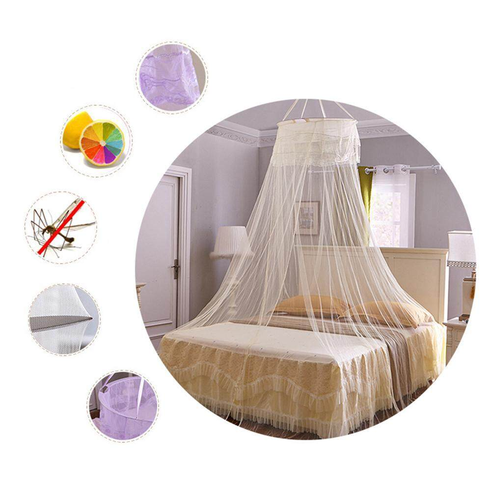 Niceeshop Mosquito Nets,complete Hanging Kit Nets Large Princess Mosquito Net Bed Canopy Maximum Insect Net Protection No Skin Irritation By Nicee Shop.