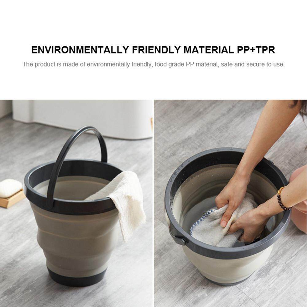 Wincoo Collapsible Bucket Mension Portable Silicone Foldable Water Container Outdoor Cleaning Folding Wash Pail For Fishing Beach Camping Car Washing Gardening By Winco.