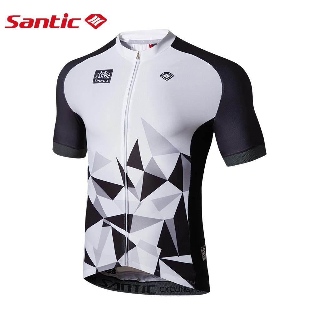 2018 New Santic Men Summer Cycling Short Jersey Pro Fit High Elastic Fabric  Reflective Cuff Road 6418a3857
