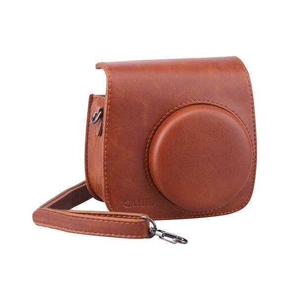 PU Leather Camera Bag Protective Case Shoulder Bag Pouch Crossbody Bag Satchel for Fujifilm Instax Mini