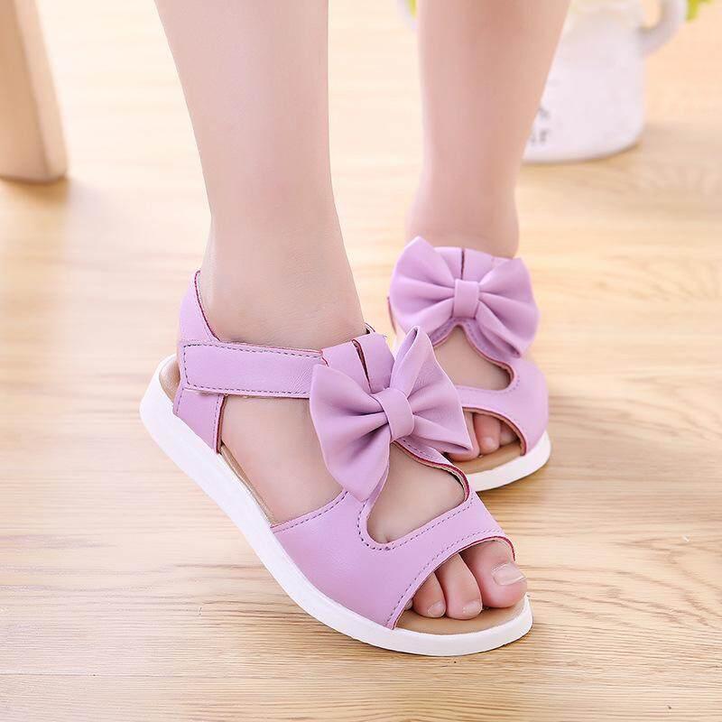 Rp 98.000. LS Baru Modis Korea Anak Perempuan Sandal Berlubang Busur Sepatu ...