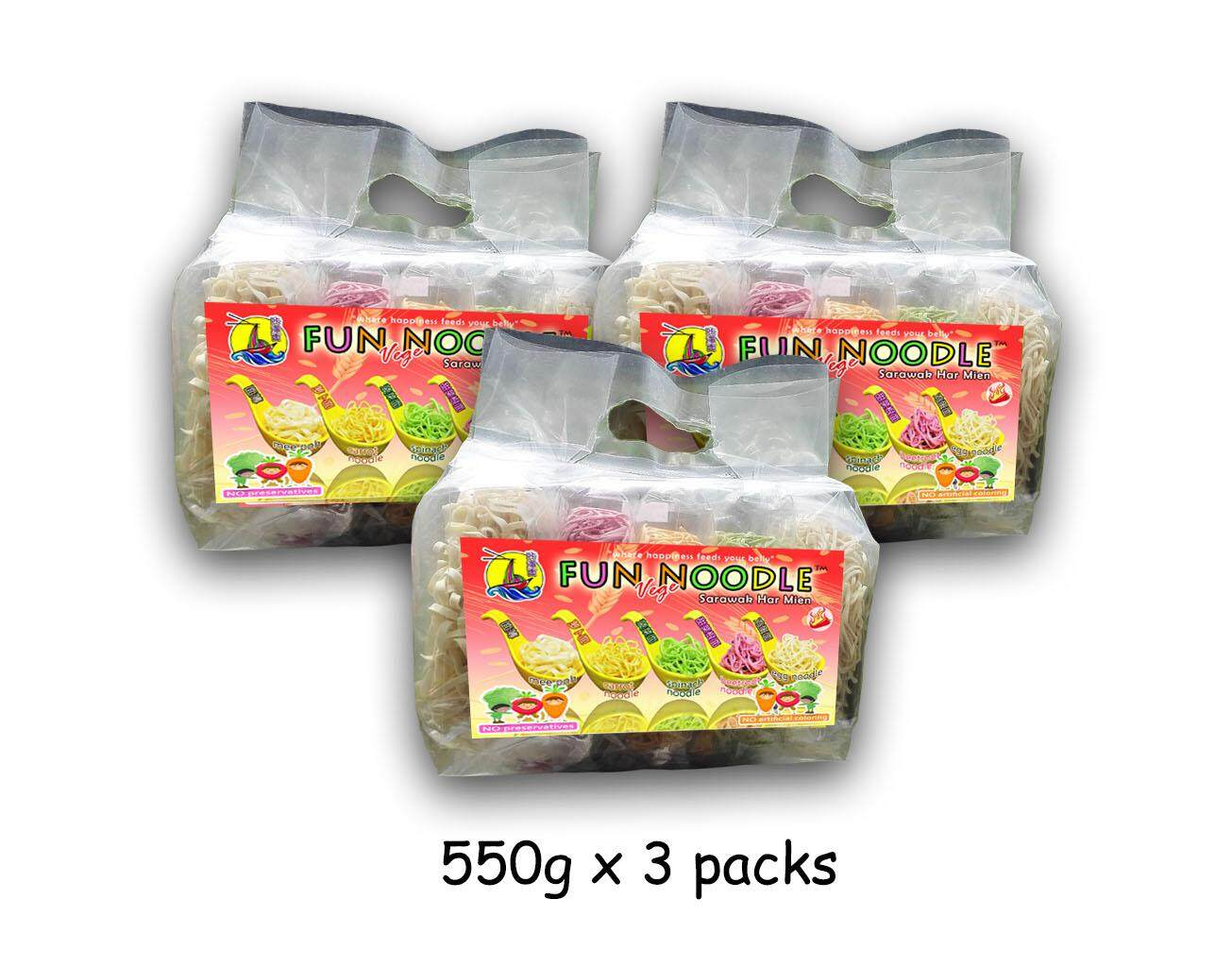 COMBO PACK Fun Noodle Healthy VegeNoodle with Sarawak Spicy Harmien Flavour