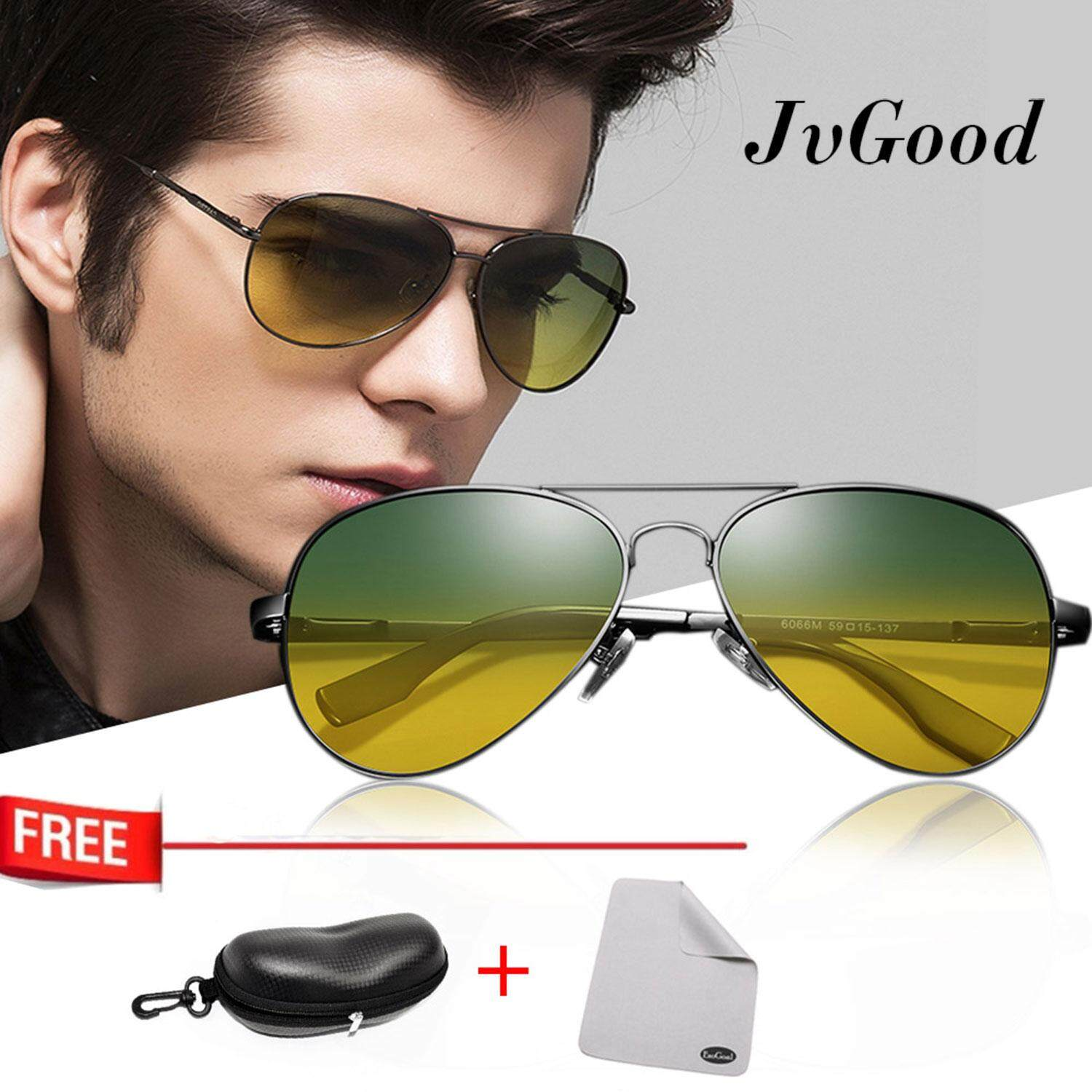 Jvgood Day Night Vision Sunglasses Glasses Anti-Glare Driving Eyewear Polarized Lens Unisex Glasses By Jvgood.