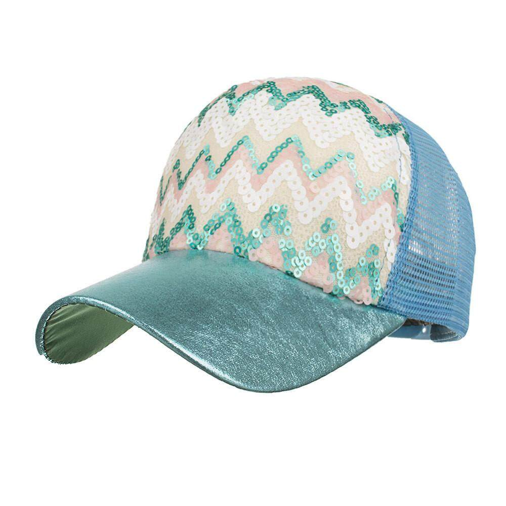 Kuncir Kuda Wanita Topi Bisbol Payet Mengkilap Bun Berantakan Topi Snapback  Matahari Topi BW-Intl 020d900887