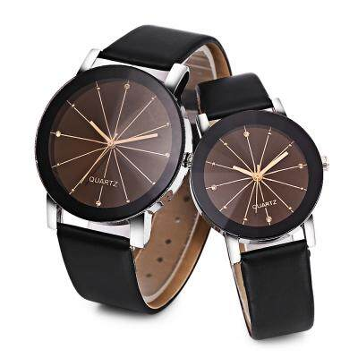 SOLID MIRROR ARTIFICIAL DIAMOND COUPLE WATCH (2watchs)