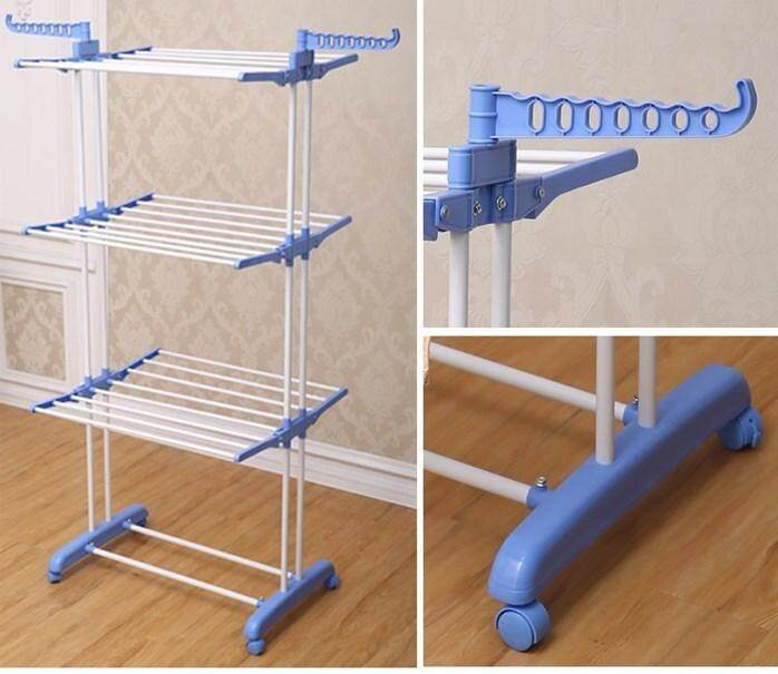 3 LAYER CLOTHES DRYING RACK  LAUDRY HANGER