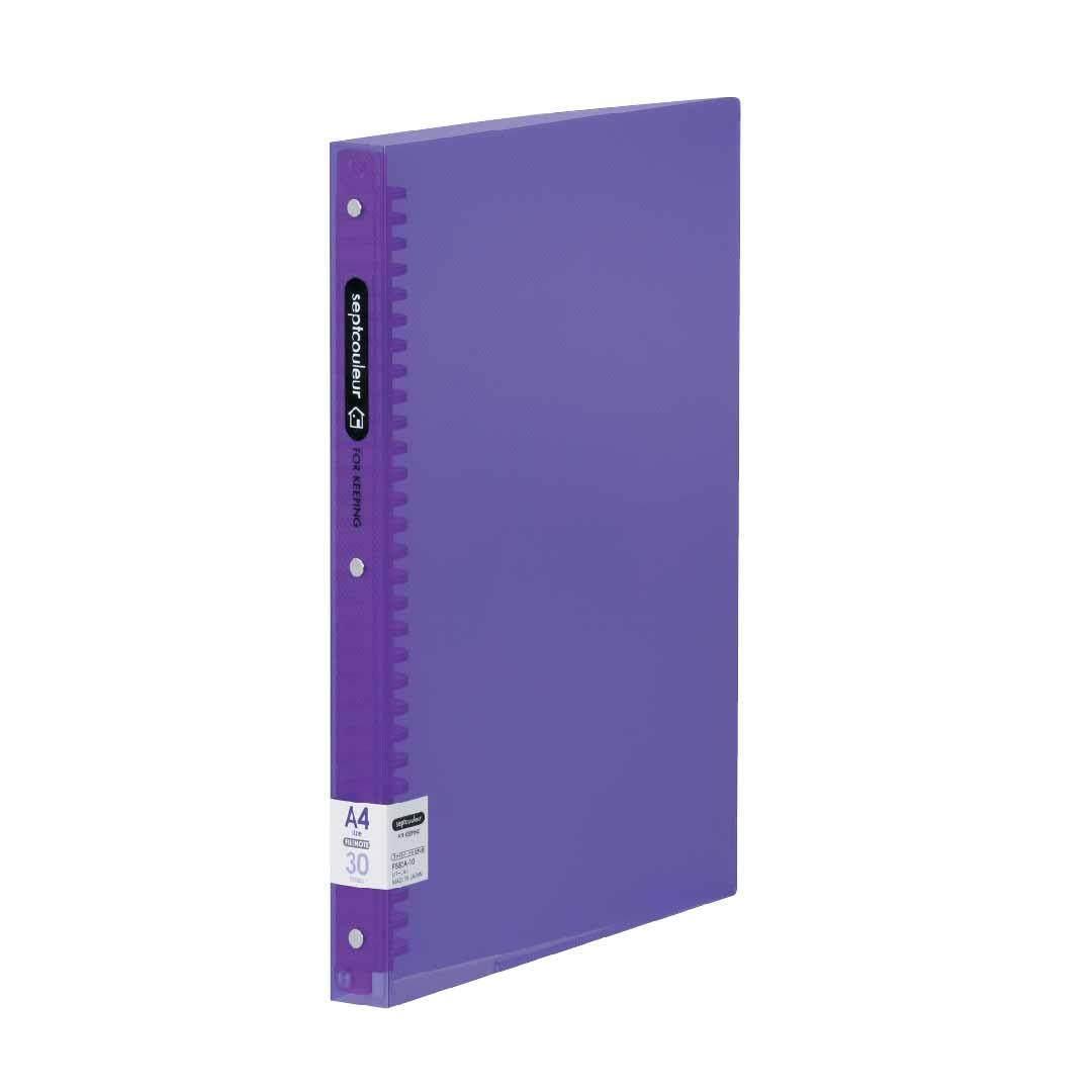 SEPT COULEUR A4, 30 Holes, 90 Sheets, 30 Spine Width -Purple
