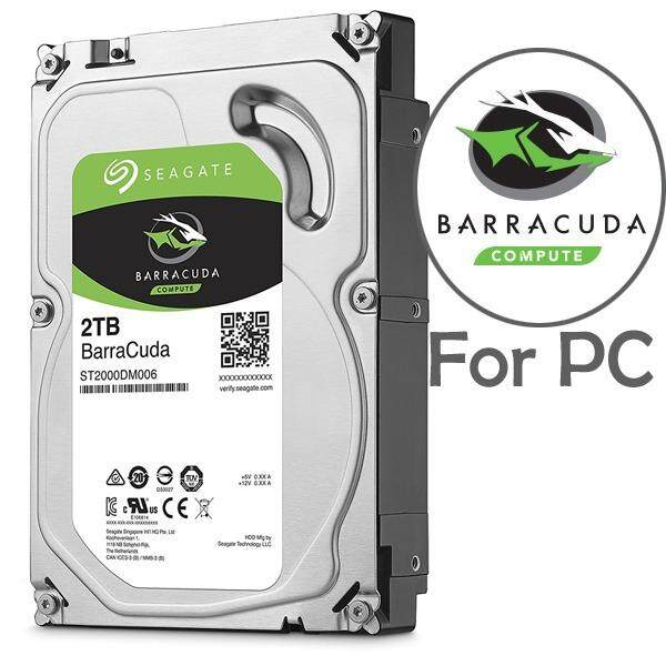 Official Seagate BarraCuda 3.5' 2TB 64MB Cache SATA 3.5-Inch Internal Hard Drive