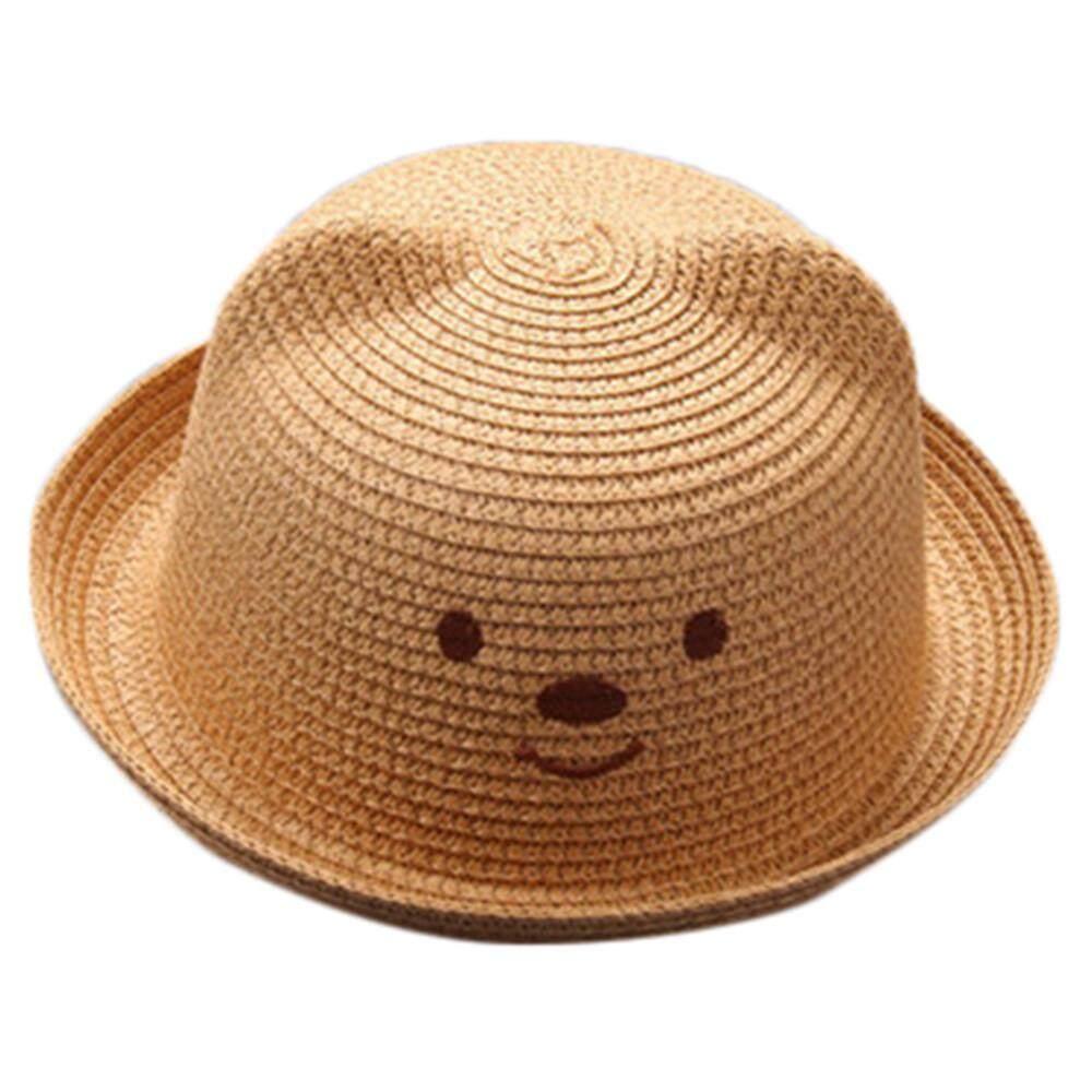 Musim Panas Bayi Kartun Anak Bernapas Topi Jerami Topi Topi Anak Anak Topi  Perempuan Cap c820b0568f