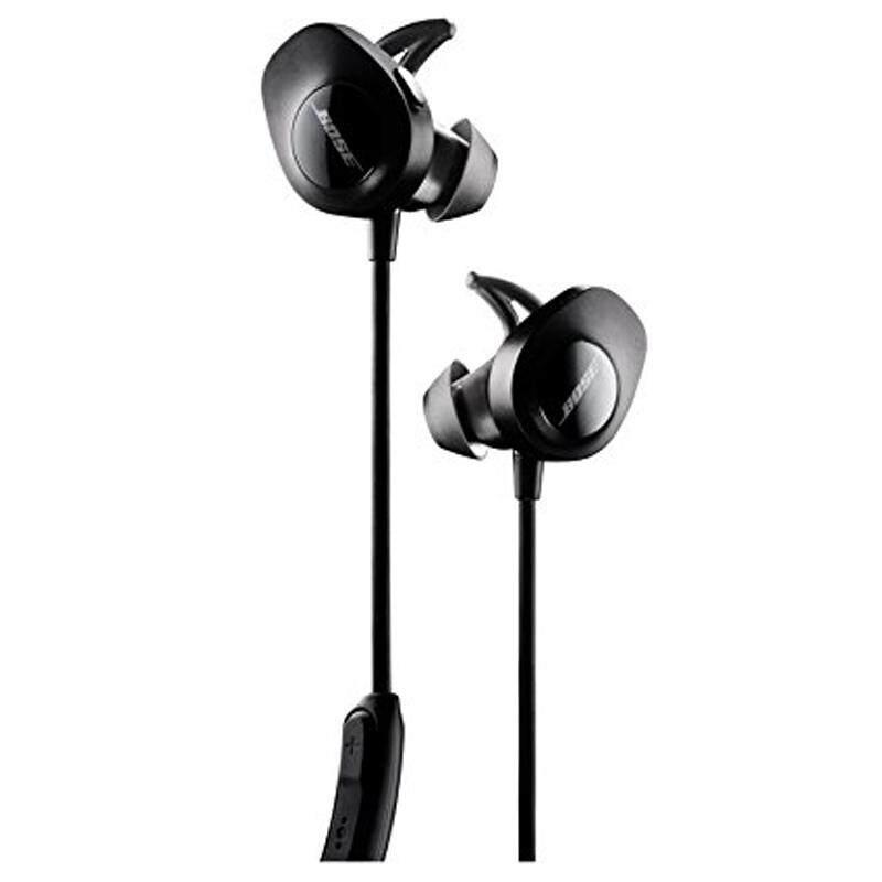 BOSS SoundSport Wireless Headphones Black Blue and Citron