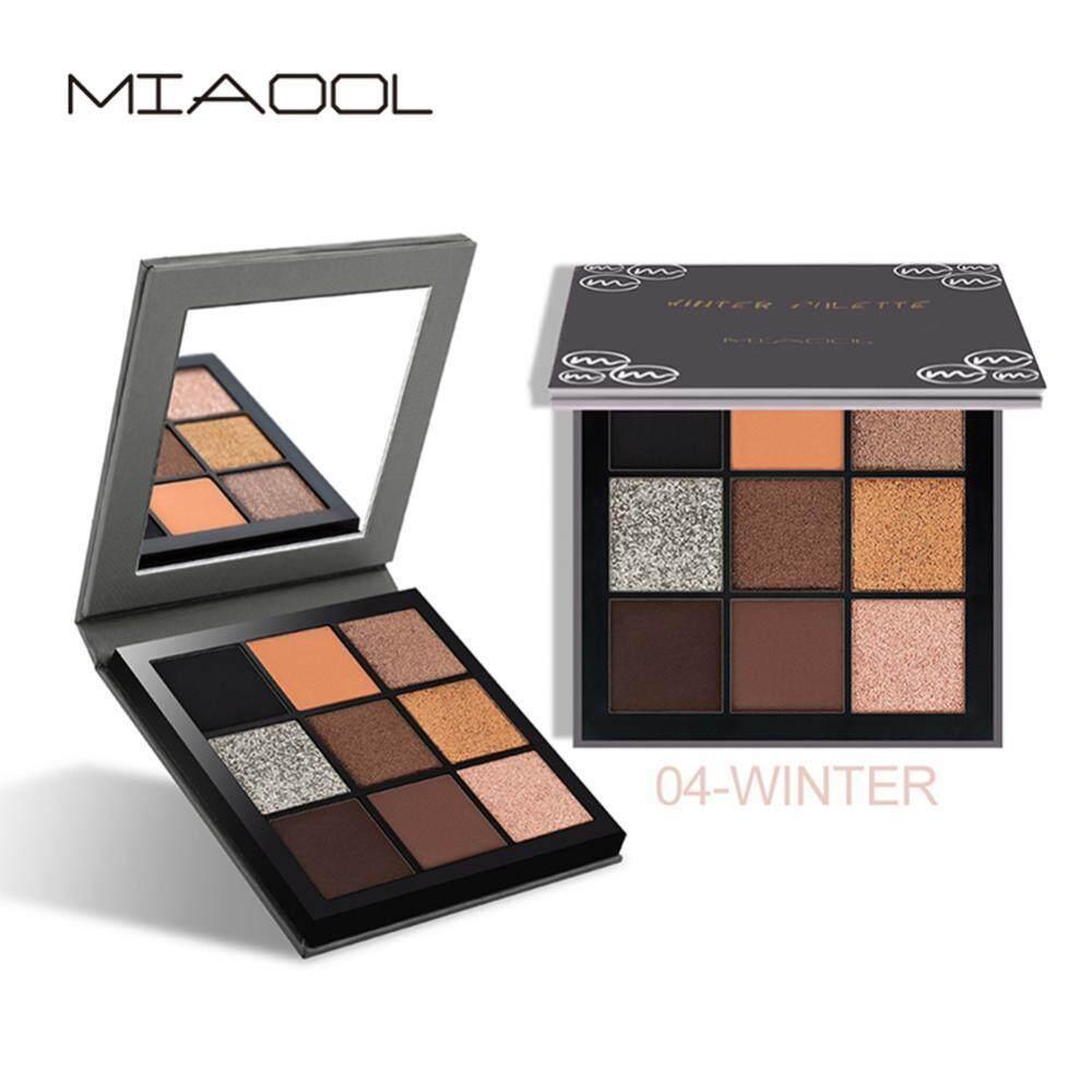 9 Palet Pewarna Mata Makeup Matte Warna-warni Shimmer Glitter Eye Bedak Bayangan Pigmen-