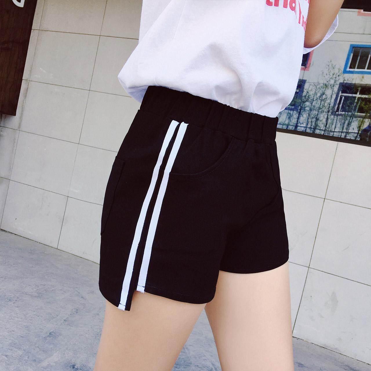 Looesn Korea Fashion Style Katun Baru Bagian Tipis Celana Pendek Anak Perempuan Panas Warna Hitam Wanita Musim