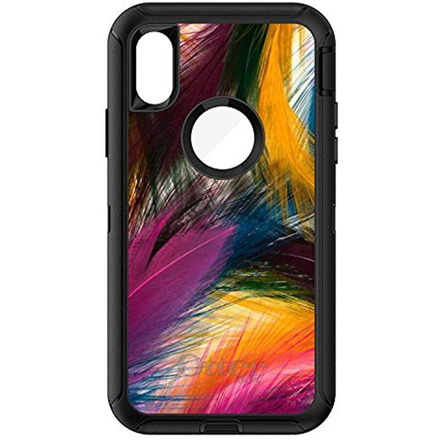 Features Iphone 7 Plus 8 Otterbox Commuter Black Case By For X Defender Distinctink Multi Color Feathers