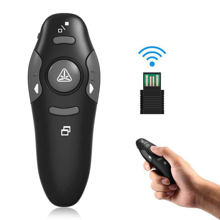 Hình ảnh TOMSOO Wireless USB PowerPoint PPT Presenter Remote Control Laser Clicker Flip Pen for Meeting, Report, Lecture and Presentation - intl - intl
