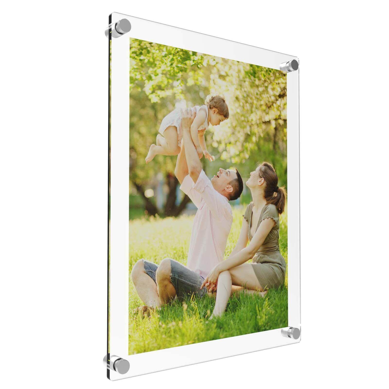 Acrylic Photo Frame Poster Wall Picture Holder Perspex Clear Display A4 - intl