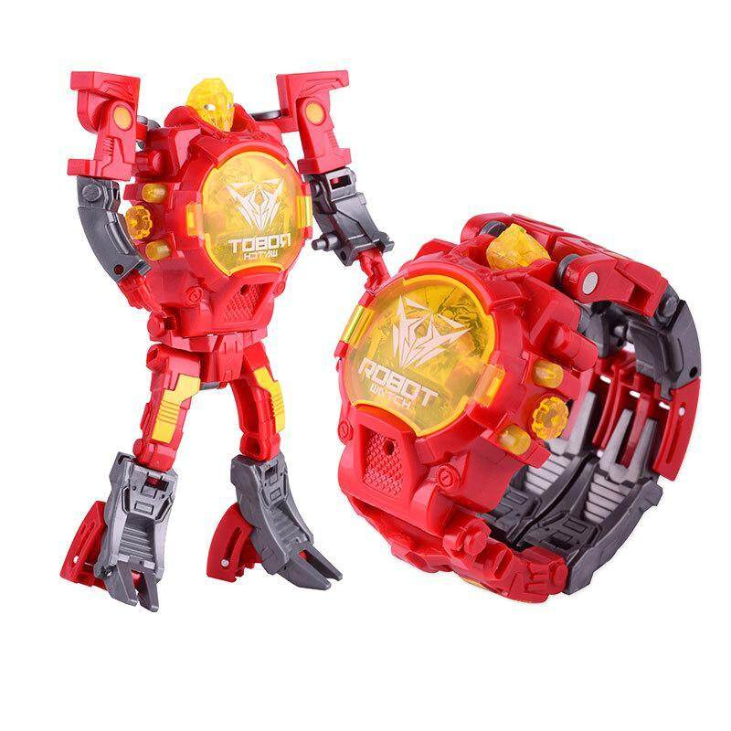 Nơi bán SBY Kid Children Robot Electronic Watch Manual Transformation Creative Toys Deformed