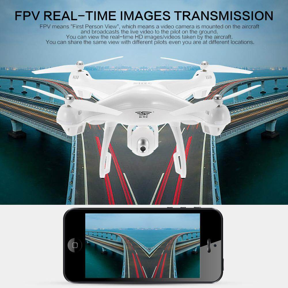 Sj R/c S70w 2.4ghz 1080p Camera Wifi Fpv Drone Altitude Hold G-Sensor Follow Me Mode Gps Rc Quadcopter By Tomnet.