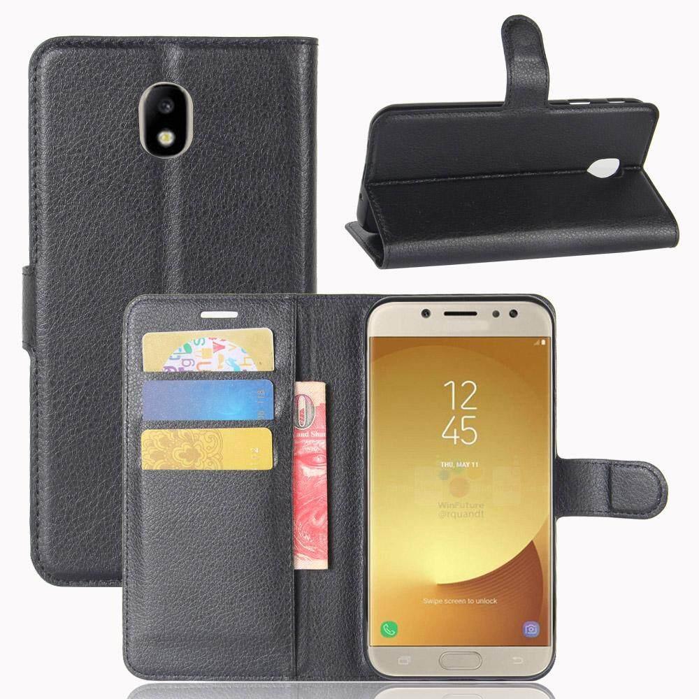 Telepon Case Anda Samsung Galaksi J7 (2017) J730 (Eurasian Version) /J7 Pro Litchi Biji-Bijian PU K