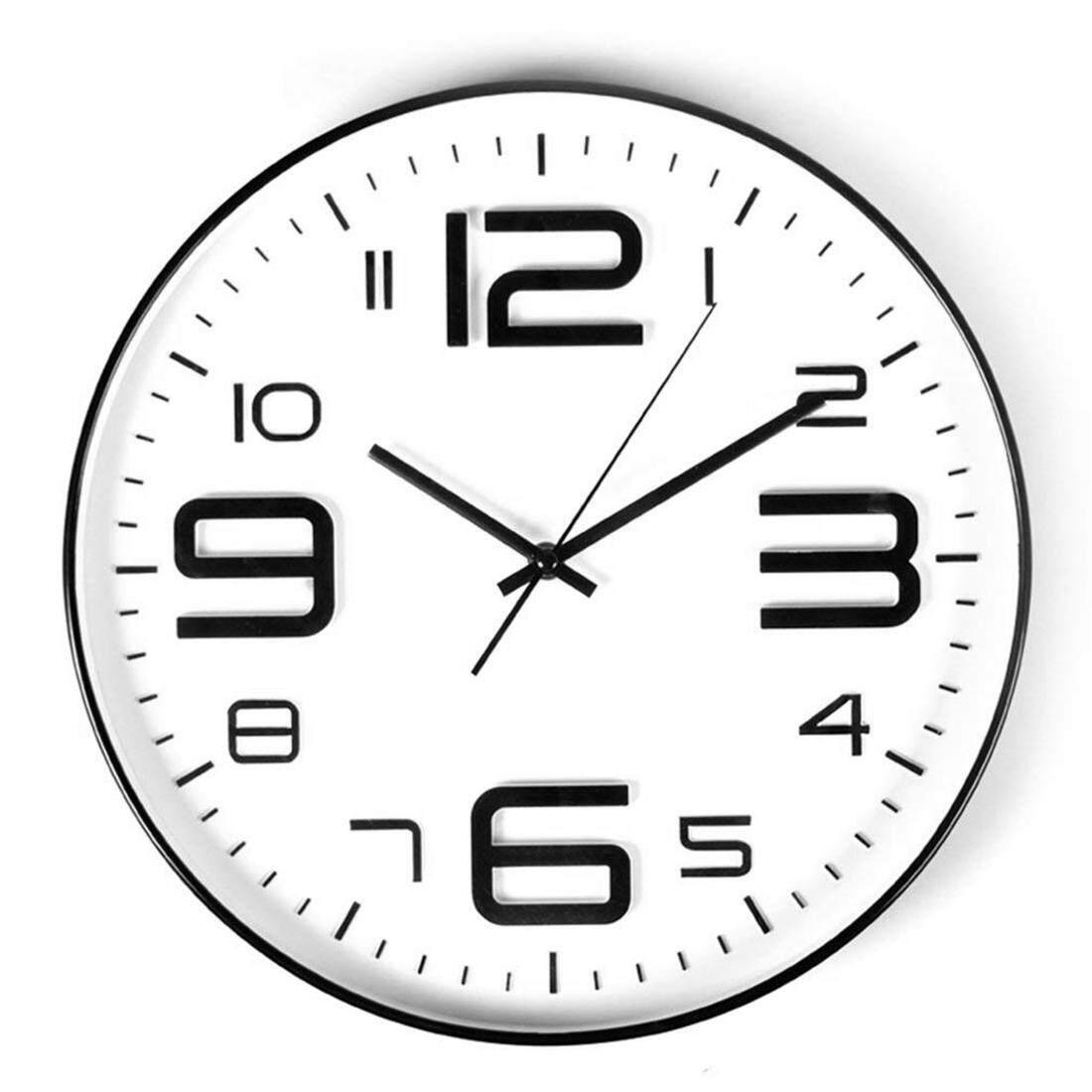 Indoor Big 3D Number Quartz Wall Decor Clock Quiet Sweep Movement Decorative Living Room 10inch Black Edge Free Shipping