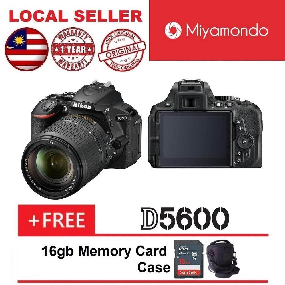 Nikon D5600 With 18-140mm Lens + 16GB + Bag