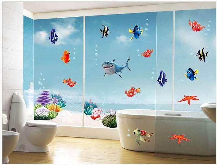 3D Underworld Sea Wall Sticker