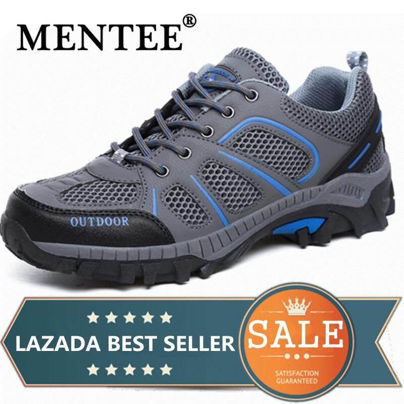 0aa4554bc218 MENTEE Size 36-45 Men s   Women s Hiking Shoes Couples Outdoor Trekking  Mountain Climbing Walking