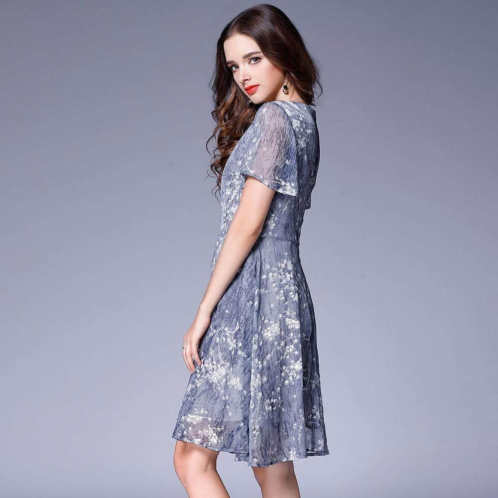 Caidaifei Shishang Womens Plus Sized Slimming Versatile Bottoming Bodytalk Dress Lengan Panjang Black And Red 74019t6br Hitam M Rusha Sifon 3