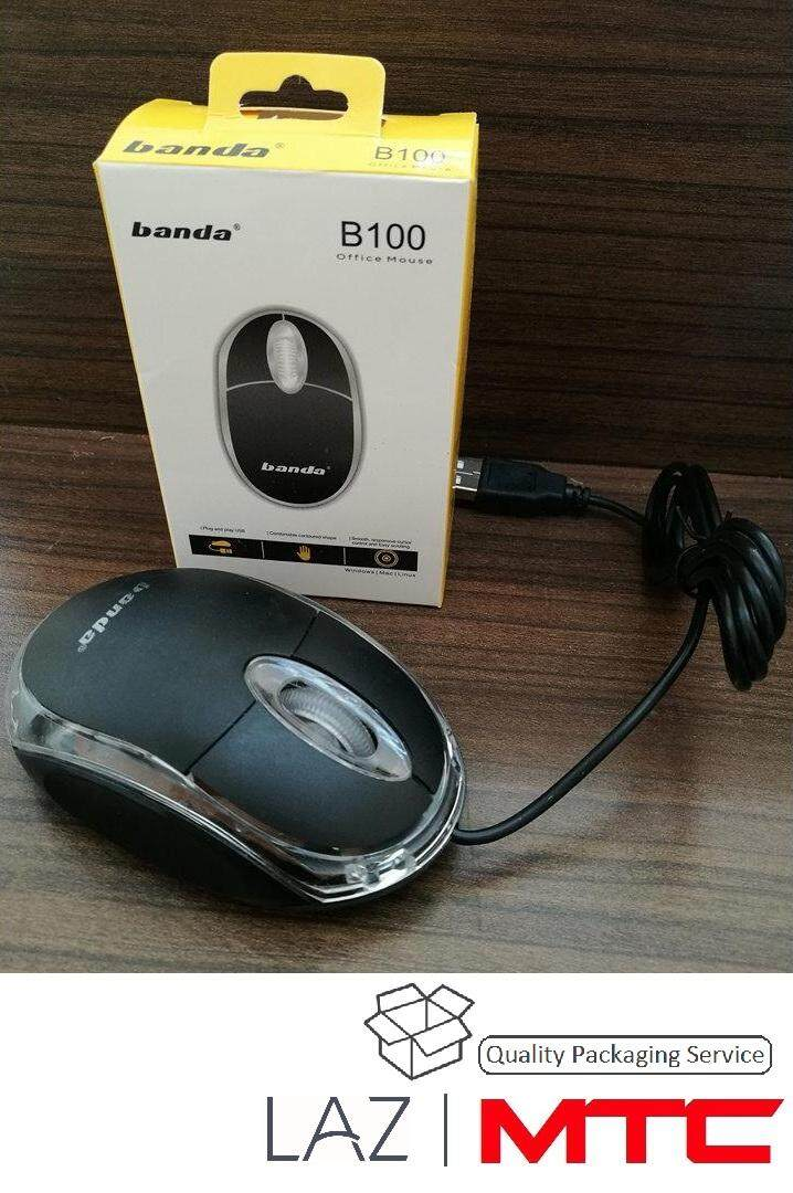 Wired Mouse USB Optical Mice For Computer PC High Quality B100 Malaysia