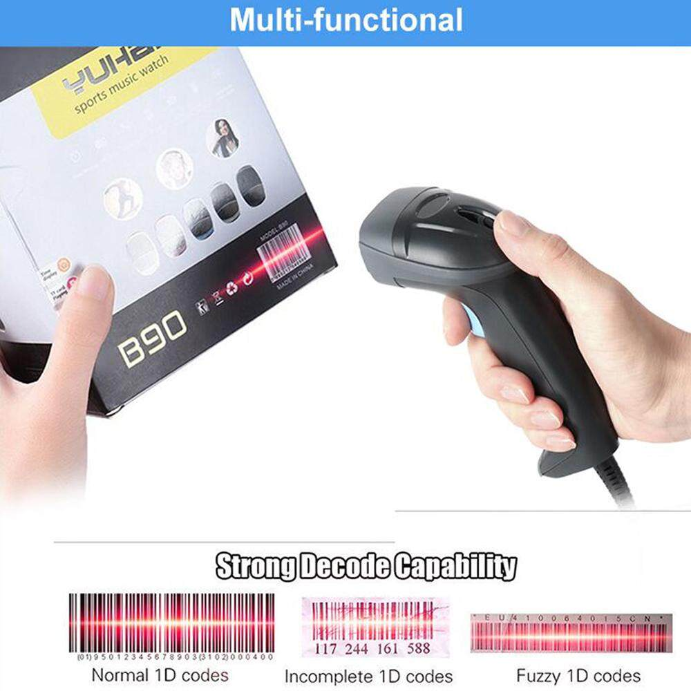 Ipbs058 1d Ccd 200times/s Handheld Wired Barcode Scanner Usb Barcode Scanner Screen Barcode Support Windows Mac System For Inventory Management By Pos Pro.