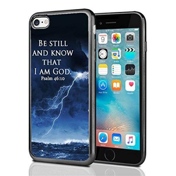 Smartphone Case S Masih dan Tahu Bahwa Akulah Allah Mazmur 46: 10 Badai Laut untuk iPhone 7 (2016) & iPhone 8 (2017) case Cover Atom Pasar-Intl