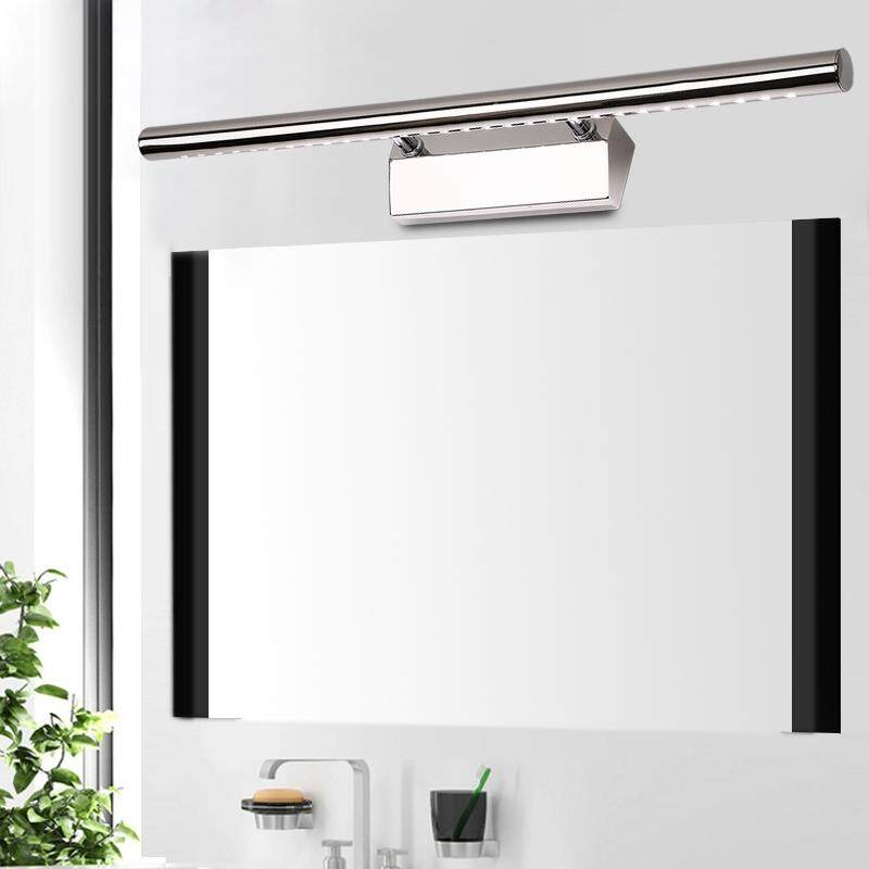 Modern Stainless Steel LED Front Mirror Light Bathroom Waterproof and Anti-fog Makeup Wall Lamps Led Vanity Toilet Wall Mounted Sconces Lighting Fixture