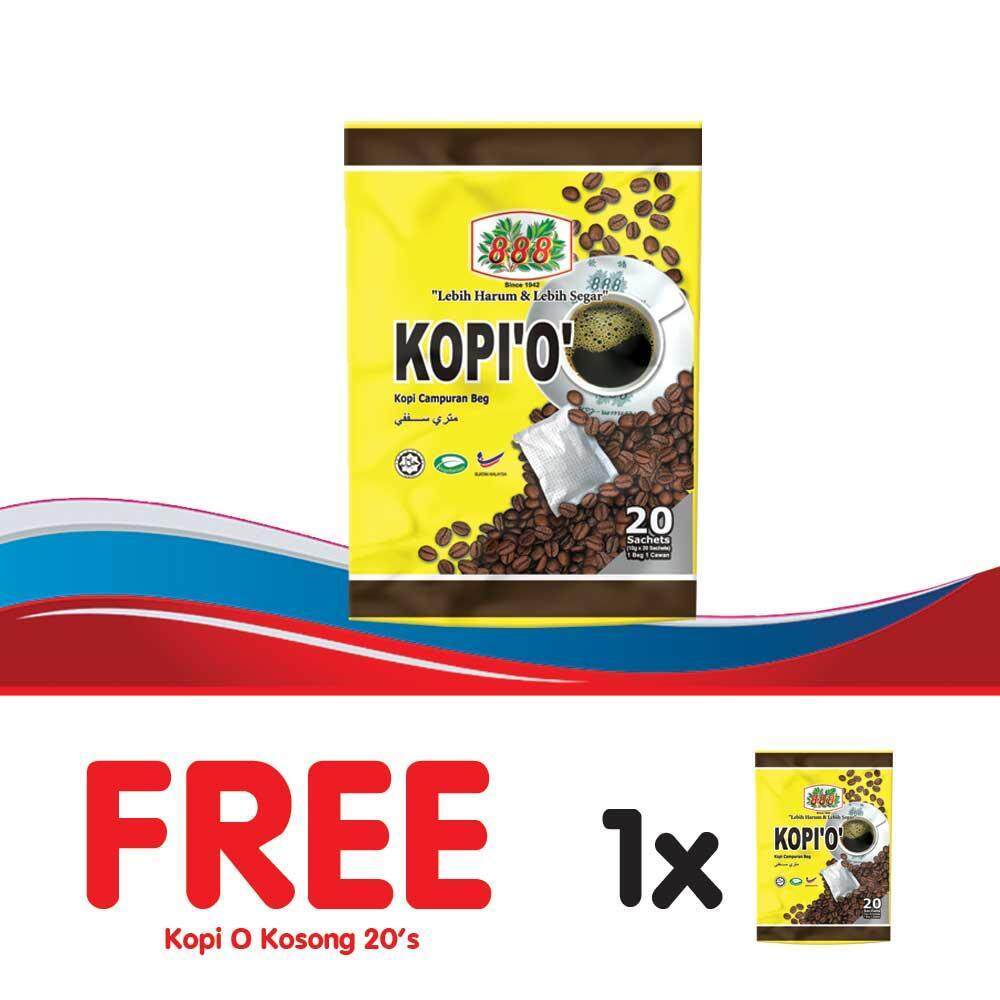 888 Kopi O Kosong (10g x 20 Sachets) - [Bundle of 2]