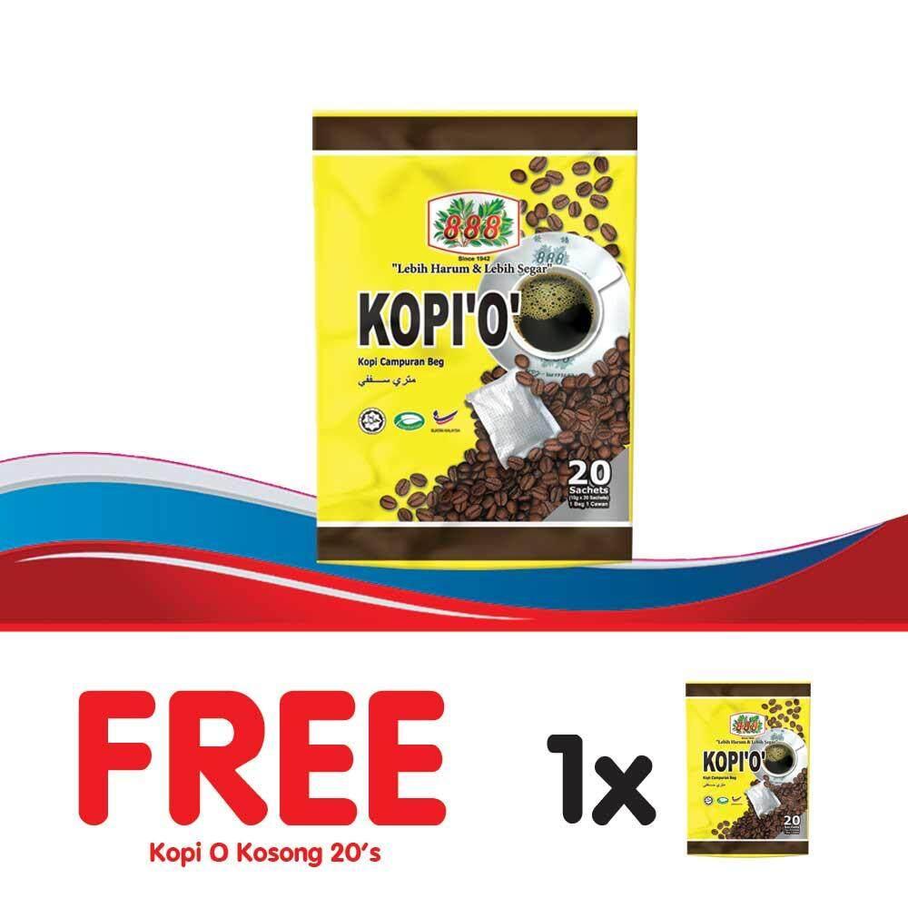 888 Kopi O Kosong (10g x 20 Sachets) - [Bundle of 2]