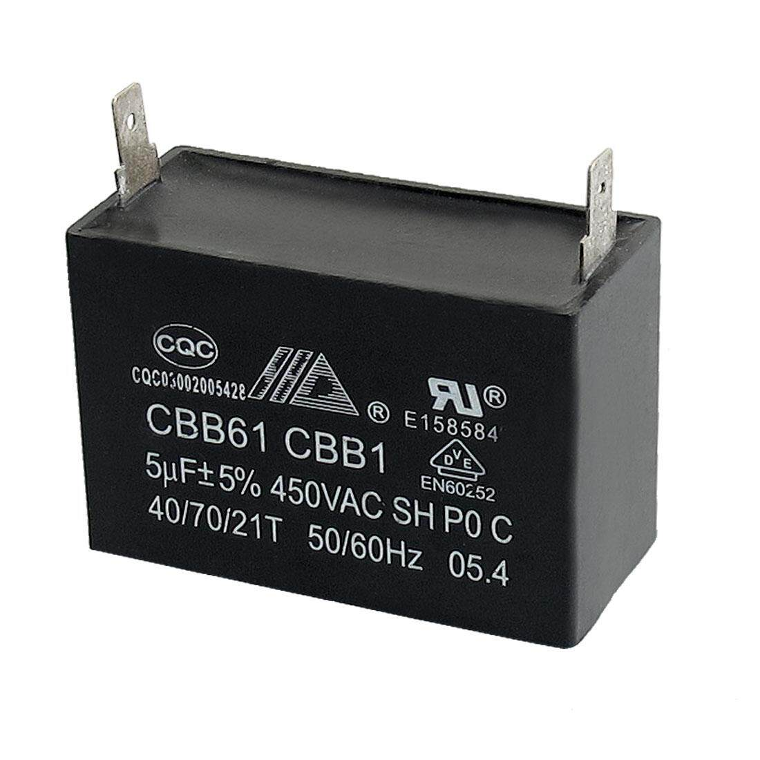 Buy Sell Cheapest Axa 450v Ac Best Quality Product Deals How To Wire 2wired Capacitor With Motor Of A Fan Cbb61 5uf 50 60hz 2 Terminals Run