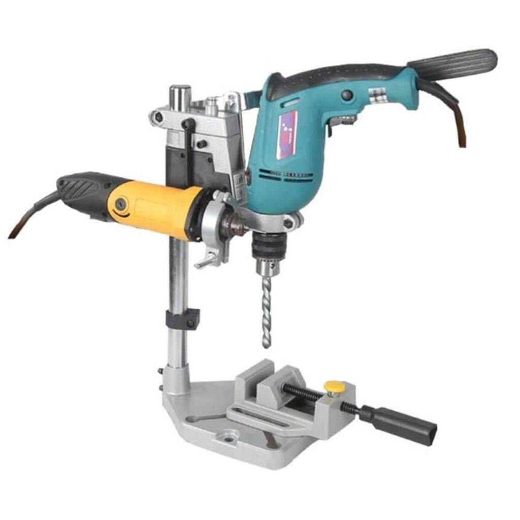 Dolity Bench Clamp Drill Press Stand Workbench Repair Tool with Double Clamp Vice